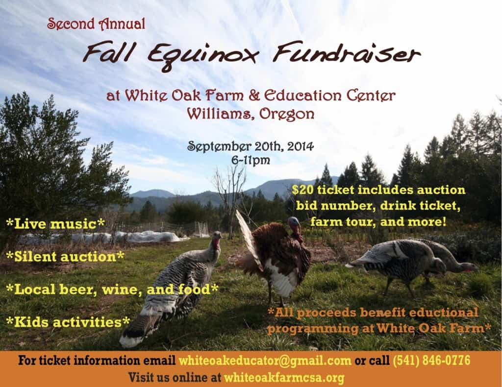 white oak fall equinox fundraiser 2014